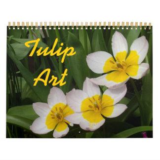 0 Tulip Art Wall Calendar