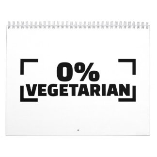 0% Vegetarian Calendar