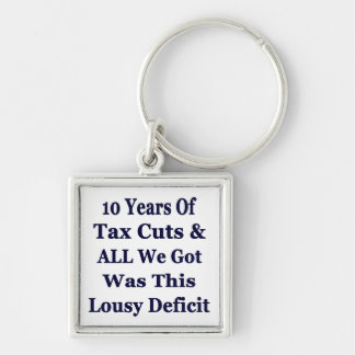 0 Years of The Bush Tax Cuts for the Wealthy Key Chains