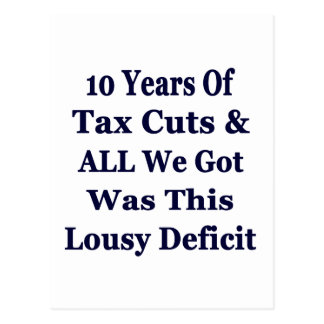 !0 Years of The Bush Tax Cuts for the Wealthy Postcard