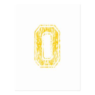 #0 Yellow Varsity Postcard