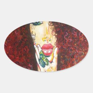 10000 Curls Oval Sticker