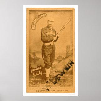 $10000 rey Kelly Baseball 1887 Poster
