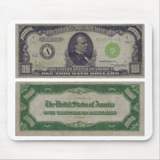 1000 Dollar Federal Reserve Note from 1934 Mouse Pad