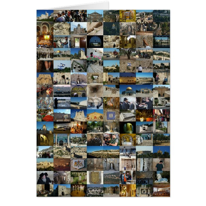 1000 Faces of Jerusalem Mosaic Card