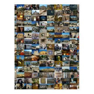 1000 Faces of Jerusalem Mosaic Postcard