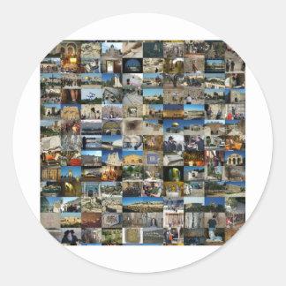 1000 Faces of Jerusalem Mosaic Sticker
