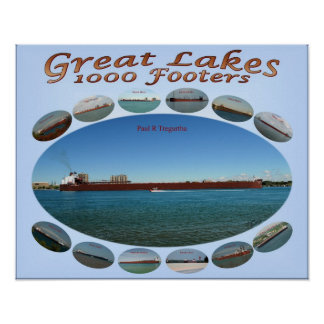1000 footer oval layout 16 x 20 poster