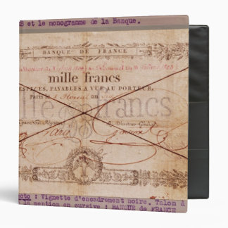 1000 Francs banknote from 8 Floreal, An X Vinyl Binder