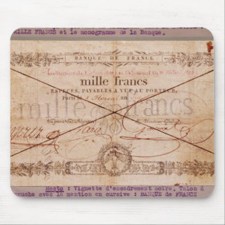 1000 Francs banknote from 8 Floreal, An X Mouse Pad