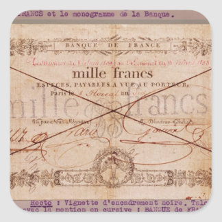1000 Francs banknote from 8 Floreal, An X Square Sticker