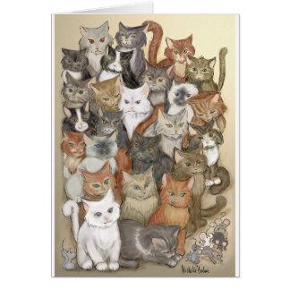 1000 gatos tarjeta