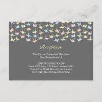 1000 Hanging Origami Paper Cranes Wedding (Grey) Enclosure Card