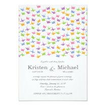 1000 Hanging Origami Paper Cranes Wedding Invitation
