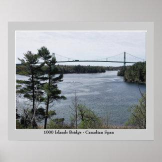 1000 Island International Bridge - Canadian Span Poster