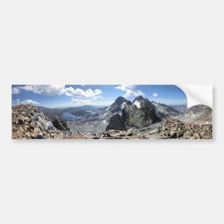 1000 Island Lake and Banner Peak from Mt Davis Bumper Sticker