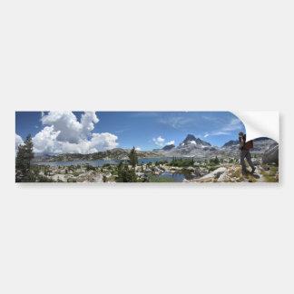 1000 Island Lake and Banner Peak - John Muir Trail Bumper Sticker