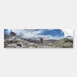 1000 Island Lake and Banner Peak Panorama - Sierra Bumper Sticker
