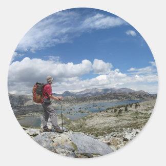 1000 Island Lake, Ansel Adams Wilderness, Sierra Classic Round Sticker