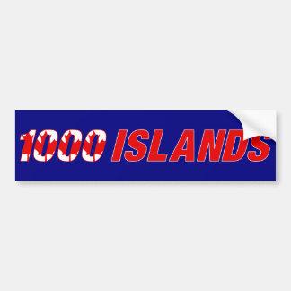 1000 islas Canadá Pegatina Para Auto