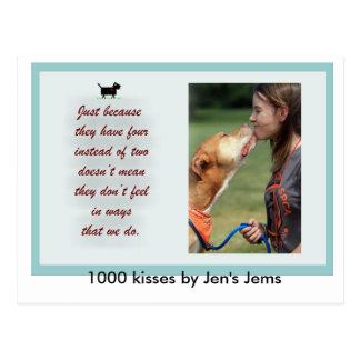 1000 kisses by Jen's Jems Postcard
