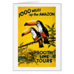 1000 Miles Up The Amazon- Vintage Travel Poster