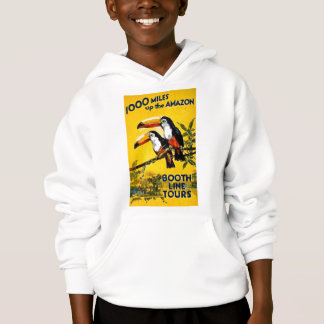 1000 Miles Up The Amazon Vintage Travel Poster Hoodie