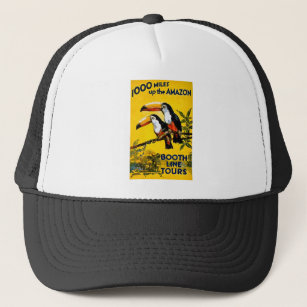 1000 Miles Up The Amazon- Vintage Travel Poster Trucker Hat 438cfef1878