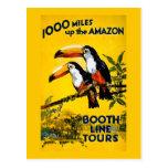 1000 millas encima del poster del viaje del postal
