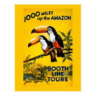 1000 millas encima del poster del viaje del tarjetas postales
