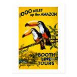 1000 millas encima del poster del viaje del vintag postal