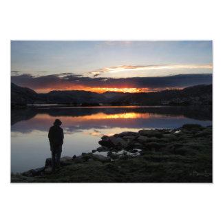 1000 salida del sol del lago island - desierto de fotografías