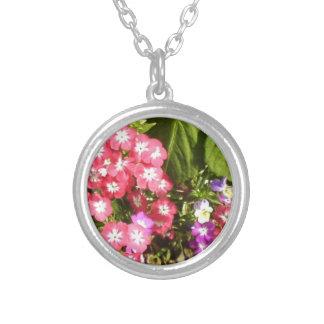 1000 Smiles - Beautiful Natural Flower Arrangement Round Pendant Necklace