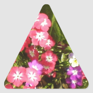 1000 Smiles - Beautiful Natural Flower Arrangement Triangle Stickers