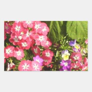 1000 sonrisas - centro de flores natural hermoso pegatina rectangular