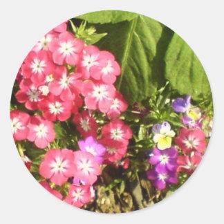 1000 sonrisas - centro de flores natural hermoso pegatina redonda