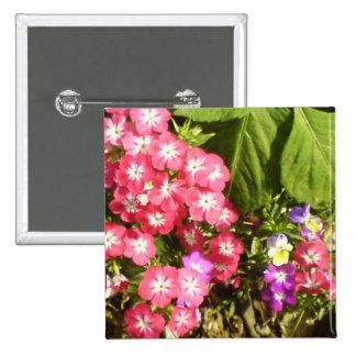 1000 sonrisas - centro de flores natural hermoso pin cuadrada 5 cm