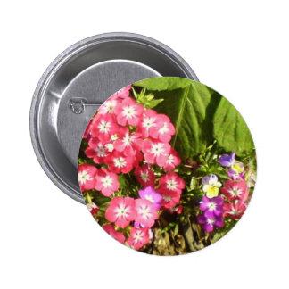 1000 sonrisas - centro de flores natural hermoso pin redondo 5 cm