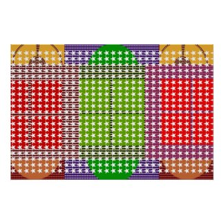 1000 Stars n Brilliant Color Squares Poster