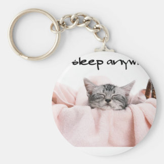 10010.Cats sleep anywhere Keychains