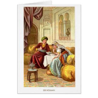 1001 Arabian Nights: Sidi Nouman Greeting Card