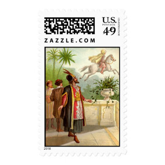 1001 Arabian Nights: The Enchanted Horse Postage Stamp