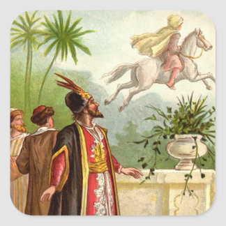 1001 Arabian Nights: The Enchanted Horse Square Sticker