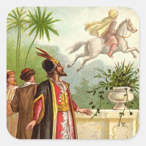 1001 Arabian Nights: The Enchanted Horse Square Sticker