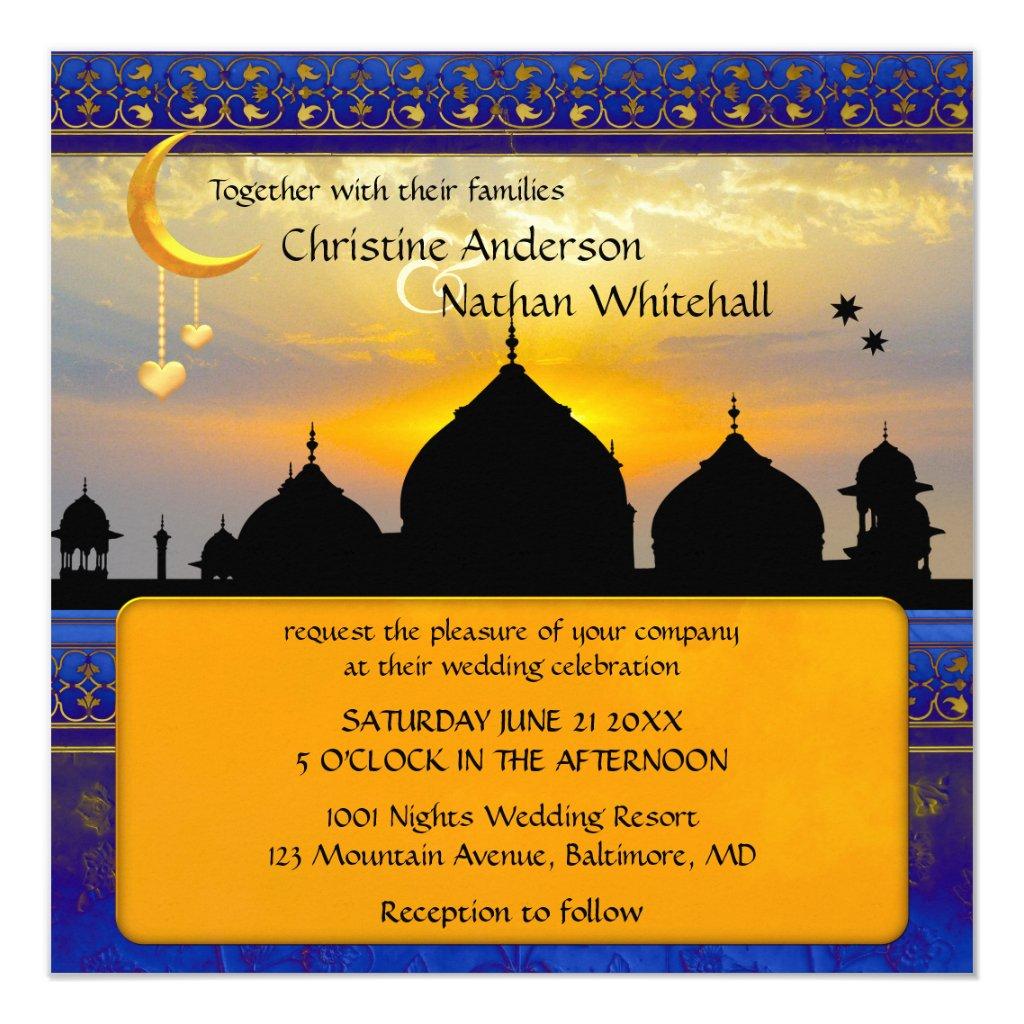 1001 Nights Fairy Tale Wedding Invitation