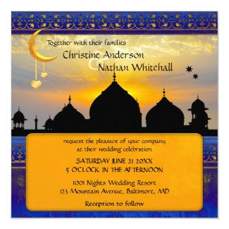 1001 Nights Fairy Tale Wedding Invitation
