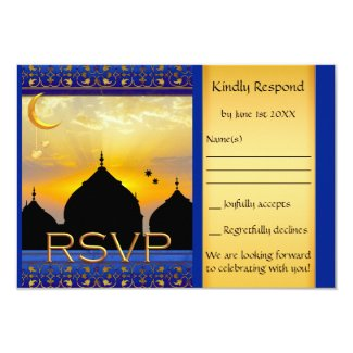 1001 Nights Fairy Tale Wedding RSVP Card