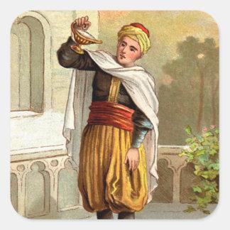 1001 noches árabes: Aladdin Pegatina Cuadrada