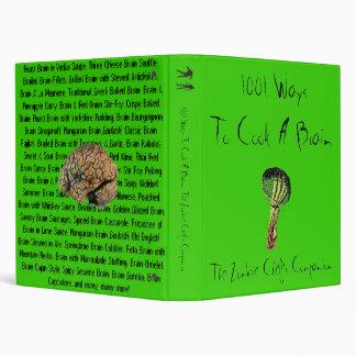 1001 Ways To Cook A Brain Vinyl Binder