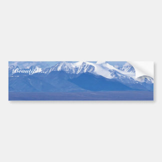 1002 Area Caribou with mountain backdrop Bumper Stickers